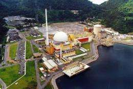 A general view of Brazil's sole nuclear power plant in Angra dos Reis