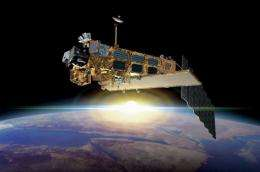 An artist's impression of the Envisat, the Earth observation satellite