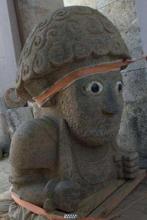 Archeologists unearth extraordinary human sculpture in Turkey
