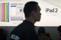 Chinese court seeking to mediate iPad dispute (AP)