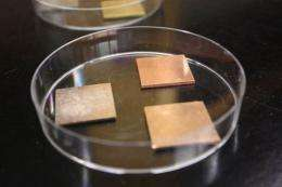 Copper kills harmful bacteria, UA researchers find