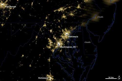 Images: Power Outages Darken Baltimore-Washington Region
