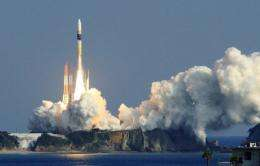 Japan's H-IIA rocket lifts off from the launch pad at the Tanegashima space centre in in 2011