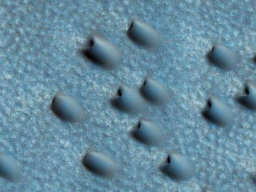 Latest from Mars: Massive polar ice cliffs, northern dunes, gullied craters