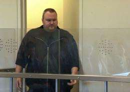 Megaupload founder Kim Dotcom, at the North Shore court in Auckland in January 2012