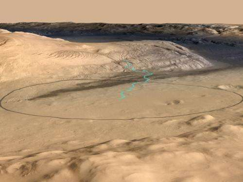 'Mount Sharp' on Mars links geology's past and future