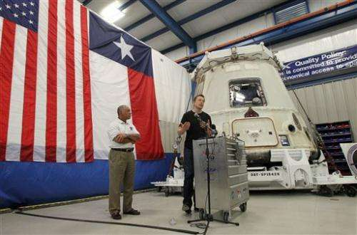 NASA chief views history-making SpaceX capsule