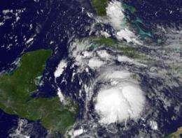 NASA sees a strengthening Tropical Storm Ernesto