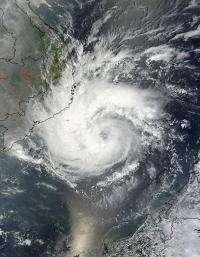 NASA sees Typhoon Pakhar headed for Vietnam landfall