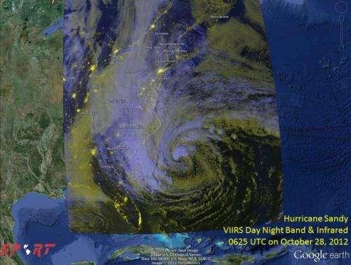 NASA's SPoRT team tracks Hurricane Sandy