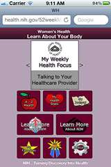 New mobile app from NIH helps women learn about their health in 52 weeks
