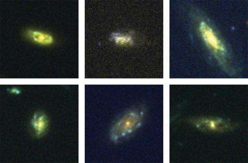 Recycling galaxies caught in the act