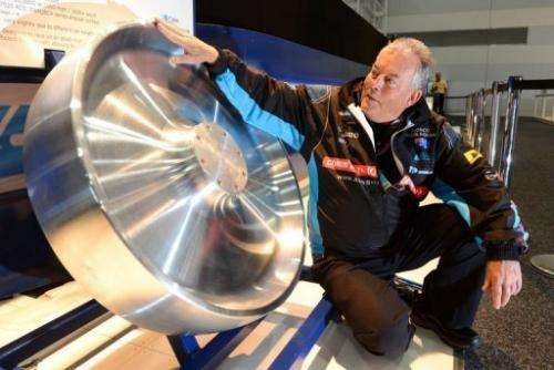 Rosco McGlashan inspects one of the specially designed wheels