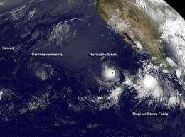 Satellite sees remnants of former Tropical Storm Daniel