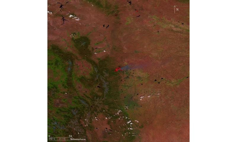 Satellite Sees Western U.S. High Mountain Blazes