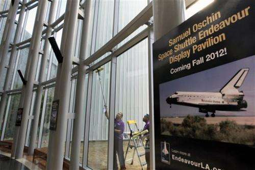 Shuttle Endeavour arrives in California next month