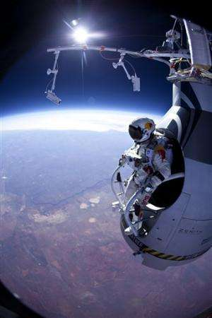 Skydiver begins prep for supersonic jump