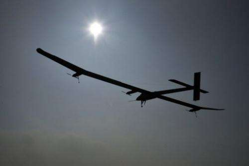 The aircraft made history in July 2010 as the first manned plane to fly around the clock on the sun's energy