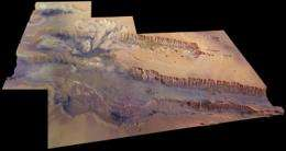 The Solar System's grandest canyon
