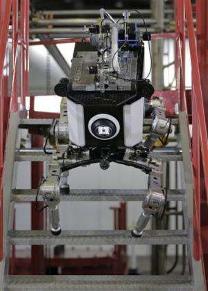 Toshiba shows four-legged robot for nuke disaster