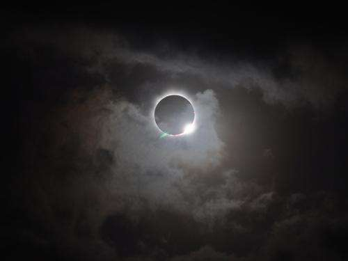 Total solar eclipse viewed from Australia