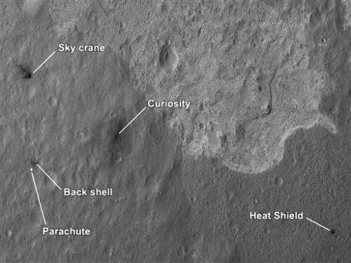 Mars crater where rover landed looks 'Earth-like'