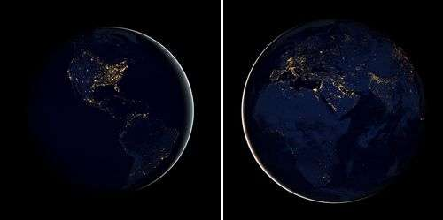 New Earth at night images reveal global light pollution problem