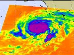 NASA satellites feed forecasters information as Bud becomes a hurricane