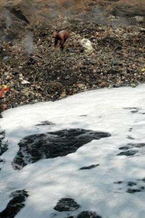 1,500 factories in the region dump 280 tonnes of toxic waste each day into the Citarum