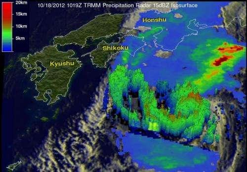 NASA's TRMM satellite sees very heavy rains in fading Tropical Storm Prapiroon