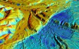 3-D laser map shows earthquake zone before and after