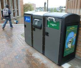 UW introduces 'intelligent' kiosks for composting, recycling, garbage