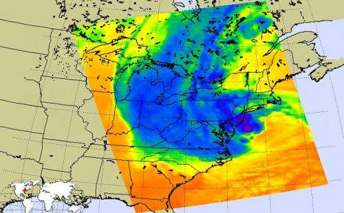 NASA Examines Hurricane Sandy as it Affects the Eastern U.S.