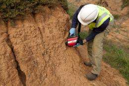 Portable device detects soil contamination