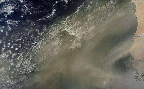 Satellite images reveal that clouds affect the particles surrounding them