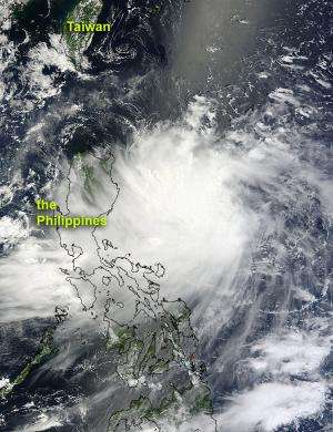 NASA sees Tropical Storm Kai-tak brushing the Philippines