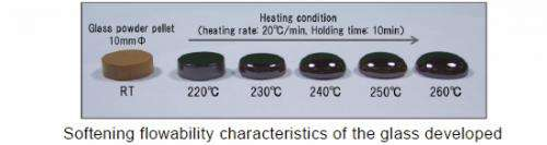 220-300℃ low-melting glass for hermetic sealing: Gold-tin solder level temperatures achieved