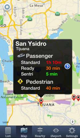 Crowdsourcing Feature Lets iPhone Users Determine Best Time to Cross U.S. Border