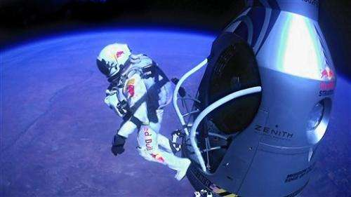 Daredevil's sky jump provides global moment of awe