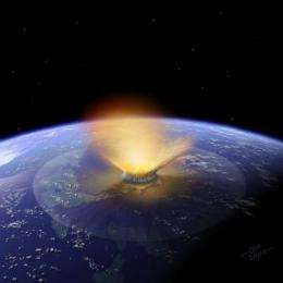 Splatters of molten rock signal period of intense asteroid impacts on Earth