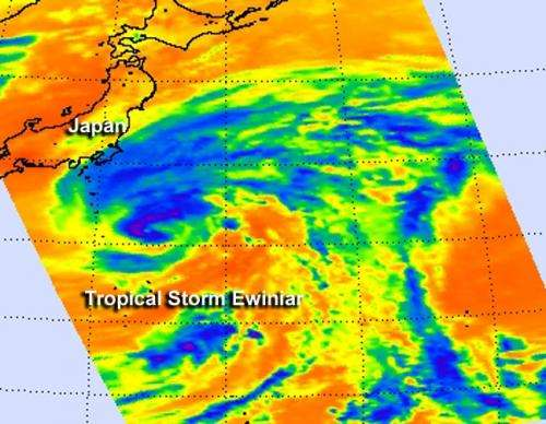 NASA sees Tropical Storm Ewiniar embedded in low pressure