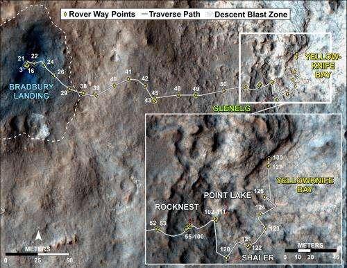 Curiosity rover explores 'Yellowknife Bay'