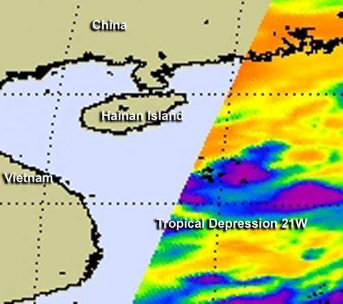 NASA observes another tropical depression birth in northwestern Pacific