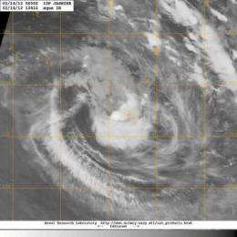 NASA sees Tropical Cyclone Jasmine near Tonga