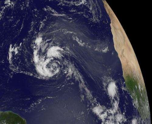 NASA's Global Hawk investigating Atlantic Tropical Depression 14