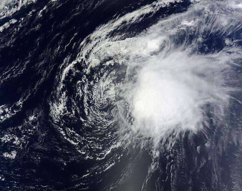 NASA satellites indicate wind shear taking toll on Oscar