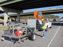 Researchers develop prototype automated pavement crack detection and sealing system