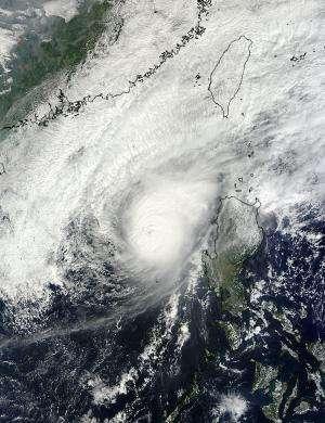 NASA satellites see Typhoon Bopha fizzle over weekend
