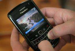 BlackBerry maker Research in Motion's stock rallied sharply