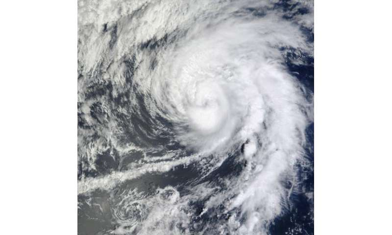 NASA sees Hurricane Lane punched in the eye